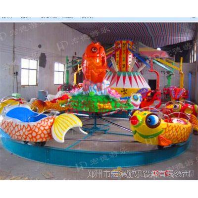 郑州宏德游乐供应公园亲子互动游艺机鲤鱼跳龙门 水上游乐设备