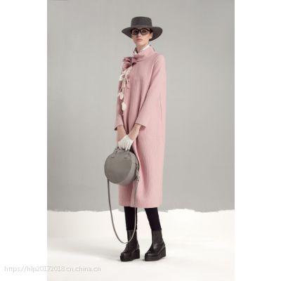 深圳品牌希色杂款大码羊绒纯色大衣折扣批发 品牌尾货服装