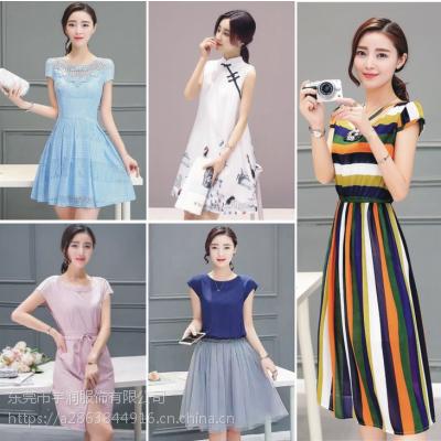 夏季便宜连衣裙杂款时尚女装雪纺裙子清货广州5元连衣裙批发市场