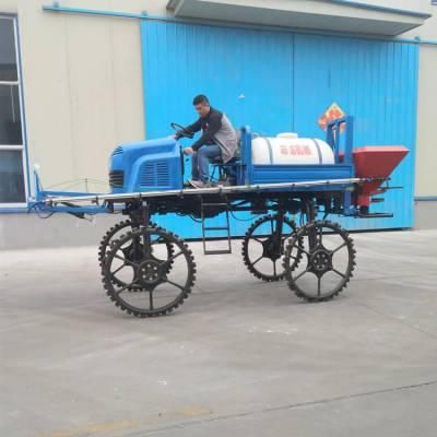 水稻田座驾式打药机 自走式农药喷洒机 多功能撒肥打药一体机