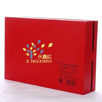 深圳翻盖礼品精装手工盒定制 ***礼品包装盒 中纤板茶叶木盒定制