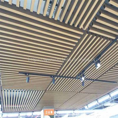 特色型材铝方通幕墙产品,室内吊顶型材铝格栅天花厂家
