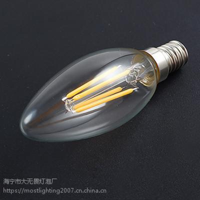 C35灯丝灯 LED灯丝灯 led蜡烛灯2w4w6w 爱迪生灯泡可调光