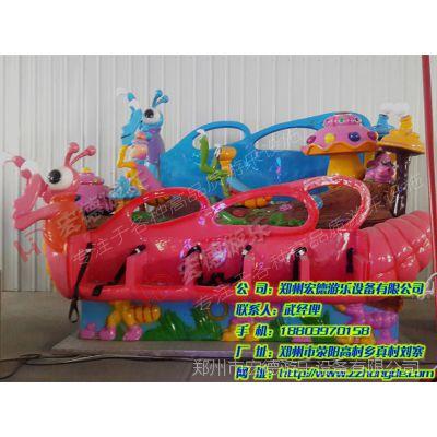 螳螂排排椅 好玩的新型游乐设备宏德游乐供应儿童排排座