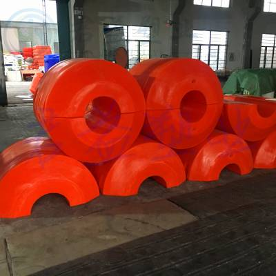大连滚塑PE海上管道浮筒 直径1100塑料警示浮标浮体