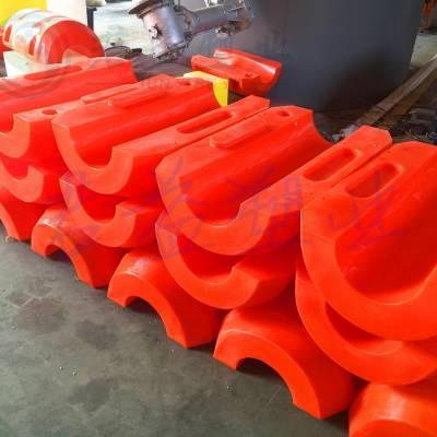 横沙岛塑料浮筒 孔径220mm管道浮筒 君益浮体批发