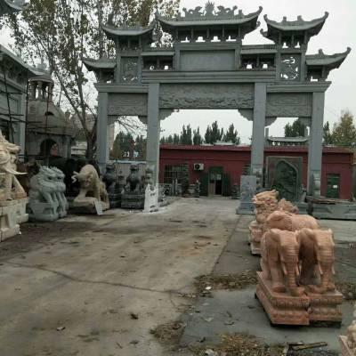 山西青石石雕牌楼厂家金玉石雕加工厂