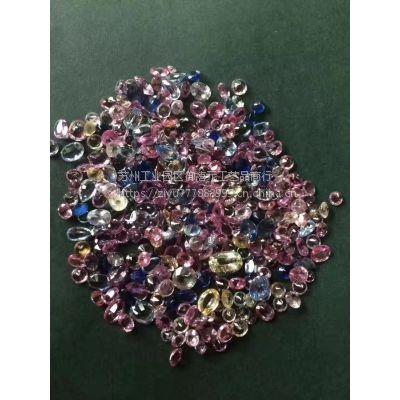 供应天然彩色蓝宝石主石配石量大价格优wholesale colorsapphire