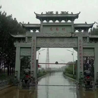 四川青石牌坊制作厂家金玉石雕加工厂