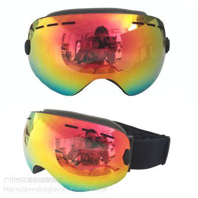 T-REX新款双层防雾防紫外线滑雪眼镜 BP-1183登山户外运动护目镜
