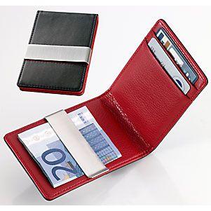 厂家爆款 敞口PU男士2卡位卡夹 欧美风范品牌钱包金属美金钱夹男包 商务馈赠