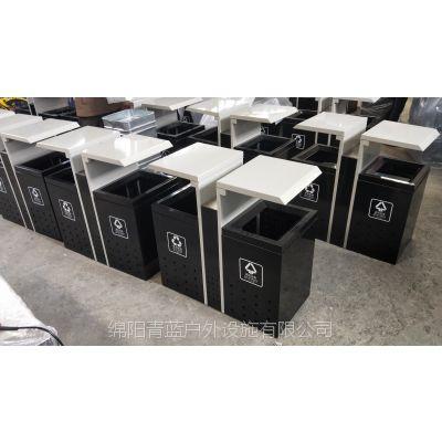牡丹江景区环保垃圾桶 草坪河提环卫果皮箱 钢板果皮箱