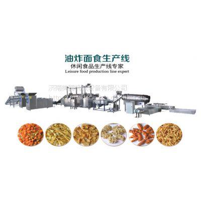 咪咪条大蟹酥油炸小食品生产线,张君雅拉面条饼食品生产设备,拉面丸子油炸点心面机器