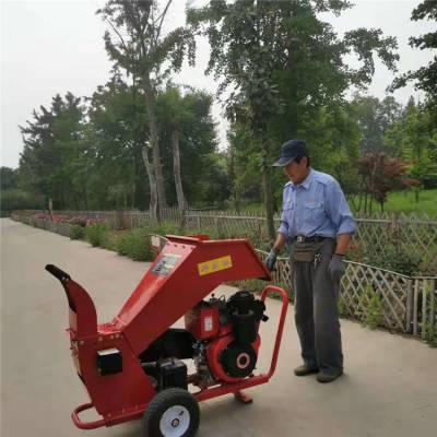 宏泰供应手推移动卧式碎枝机 园林柴油电启动碎枝机 低噪音小区用树枝粉碎机