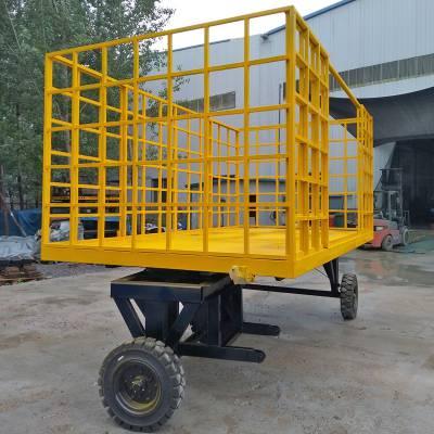 定制厂区转运车 高护栏拖车 运输包裹平板车 平板拖车