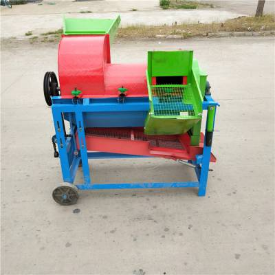 玉米脱粒机厂家 小型大豆脱粒机 多功能水稻打谷机