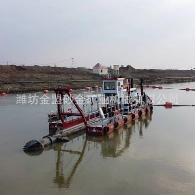 广西大型绞吸式抽沙船 广西客户定制12寸吸沙船安装现场