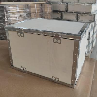 无锡钢带箱生产厂家,太行木业钢边箱可拆装折叠,外形美观