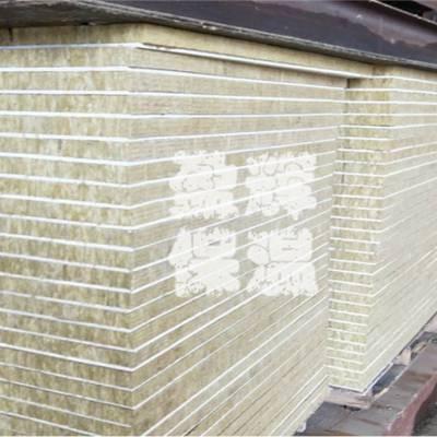 保温硅酸钙复合岩棉装饰一体板 团队安装岩棉防火复合保温板