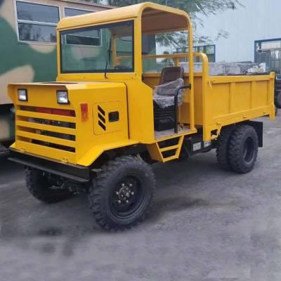 32马力柴油双缸工程车 拉土拉料四驱运输车 隧道拉石料柴油工程车
