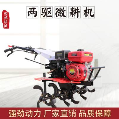 恒邦土壤耕整微耕机械 家用小型柴油两驱旋耕机
