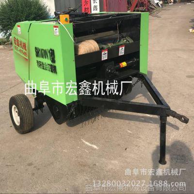圓捆麥稈打捆機 小麥秸稈稻草撿拾打捆機 小型拖垃機帶撿拾打捆機
