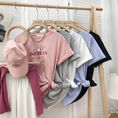 工厂便宜女装短袖T恤新款上衣库存服装杂款T恤便宜T恤批发