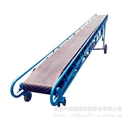 河北沙土带式输送机 爬坡防滑型传送带订做