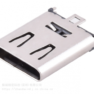 供应苏州耐高温type-c母座6p立式插板h10.5 ***