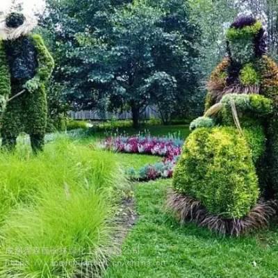2019年新的仿真植物绿雕造型 建国70***祝假草坪景观雕塑