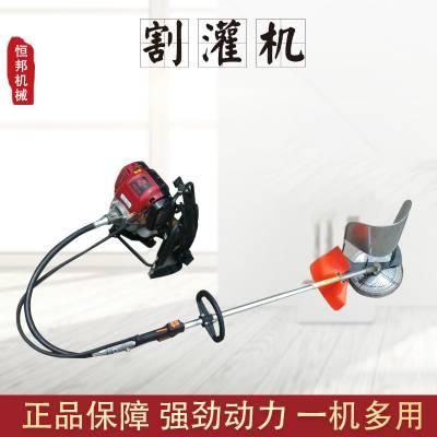 背负式四冲程汽油割灌机 多功能侧挂式小型割草机