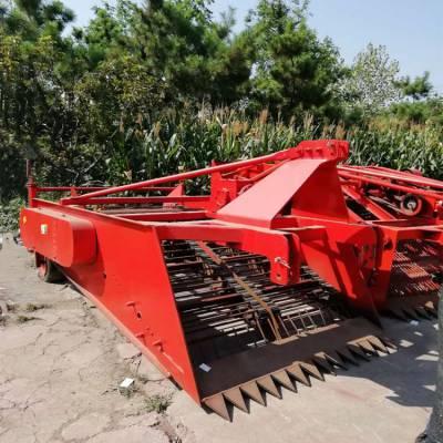 拖拉机牵引药材收获机 柴胡药材收获机供应 四轮牵引式药材挖掘机