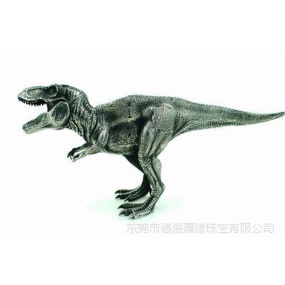 不锈钢摆件 侏罗纪公园恐龙倒模铸造饰品 钛合金首饰 东莞五金首饰加工厂