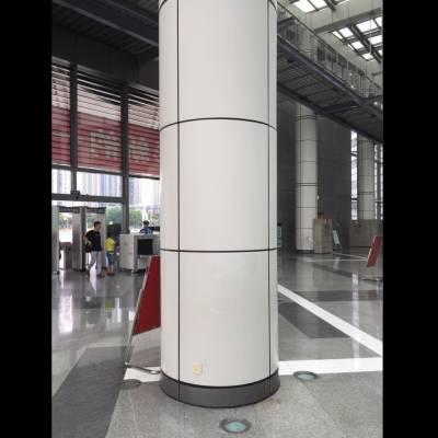 包柱造型幕墙铝单板定制 白色弧形铝幕墙单板造价