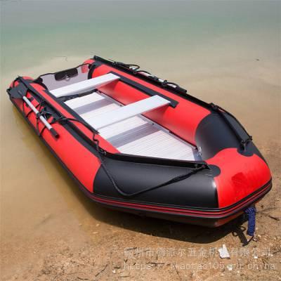 救生皮划艇充气救援冲锋舟充气橡皮艇救生船应急冲锋舟防汛橡皮艇