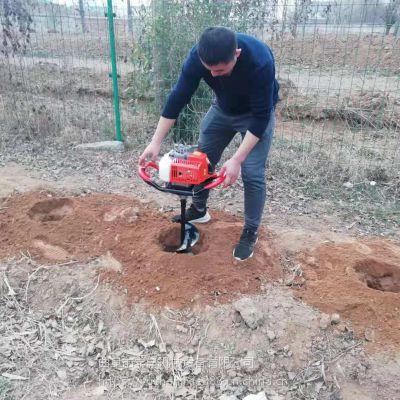 渭南栽树专用挖坑机批发 拖拉机种树打洞机批发 小型手推式挖穴机