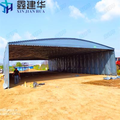 衢州大型商场雨棚-不锈钢推拉棚尺寸定做