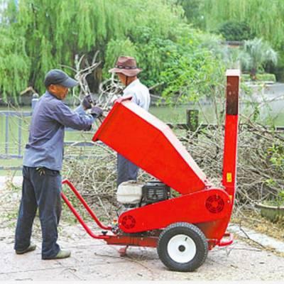 园林枝条修剪碎枝机 果树修剪残枝粉碎机 小区干鲜树枝粉碎机