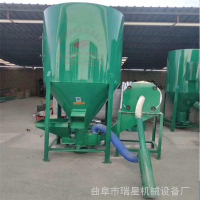 500公斤自吸式粉碎搅拌机 养猪场饲料玉米搅拌粉碎机 养殖饲料粉碎搅拌机
