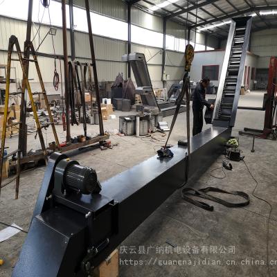 广纳6150数控车床刮板式排屑铁沫输送机器