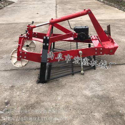 新型收大蒜機器單缸四輪前置挖蒜機 大蒜出土出蒜機