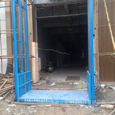 济南升降机厂家 工厂运货导轨式升降货梯 固定式液压升降台 维修安装