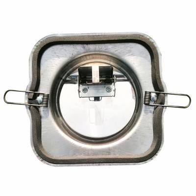 卫生间不锈钢100mm排气道止逆阀 厕所防火逆止阀