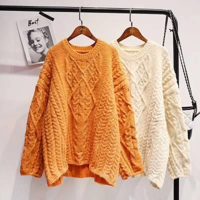 内蒙古包头服装城休闲地摊女式针织衫 秋冬新款女士毛衫全国直播带货服装