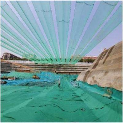建筑工地基坑开挖用防尘天幕网设备安装