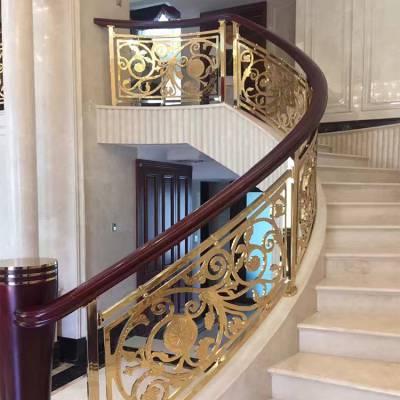 琼海全铜艺术雕刻半镂空楼梯扶手悄悄进入你心间