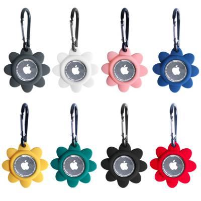 创意新款花朵airtag硅胶保护套 东莞厂家定制airtag定位追踪器硅胶套