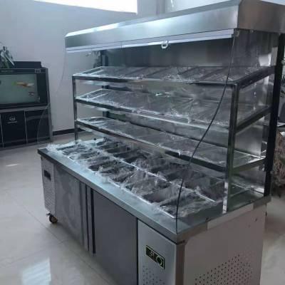 商用麻辣烫展示柜点菜柜冒菜串串蔬菜保鲜冷藏柜立式双温风幕柜