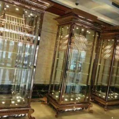 不锈钢制品定制金属屏风定做欧式客厅隔断效果钛金中式不锈钢屏风佛山宝上制品欧式家具定制