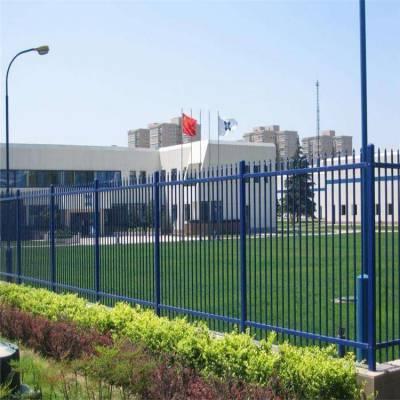铁栅栏介绍 社区铁管栅栏厂家 围墙隔离栏销售